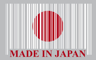 Japan barcode flag, vector
