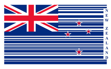 New Zealand barcode flag, vector