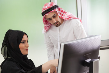 Arabic business couple