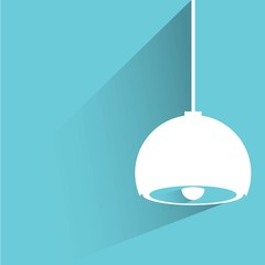 hanging lamp, interior design concept background