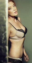 Sensual woman wearing sexy lingerie