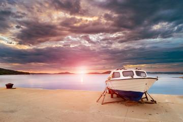 Dalmatia sunset in bay