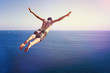 canvas print picture - Cliff Diver