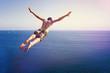 Leinwanddruck Bild - Cliff Diver