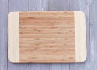 empty wooden cutting board