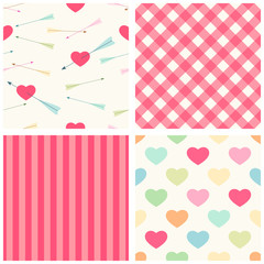 Seamless heart patterns 3