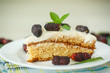 cake with mulberry
