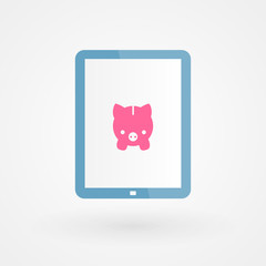 Tablet and piggy