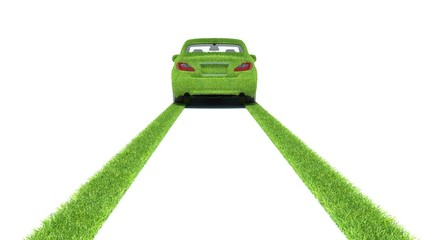 Concept of the eco-friendly car