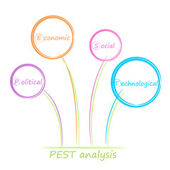 PEST analysis diagram.