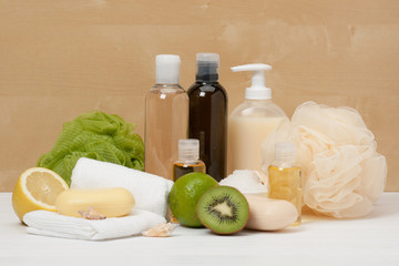 Shampoo, Liquid Soap, Aromatic Bath Salt And Other Toiletry