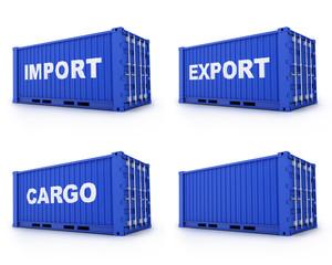 Four cargo container
