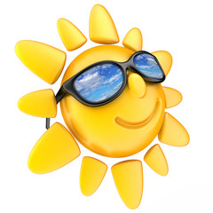 Sun and glasses