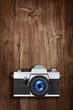 slr film camera wood