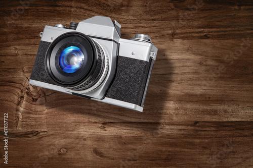 slr camera wood