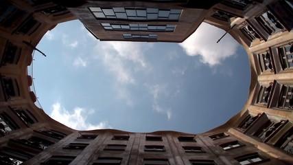 Casa Milà (La Pedrera) atrium. Architect Antoni Gaudi.