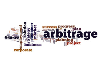 Arbitrage word cloud