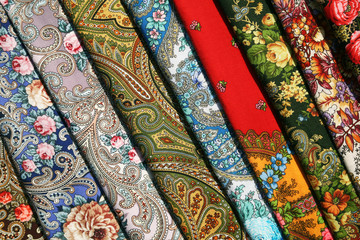 Colorful Russian fabric