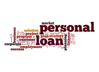 Personal loan word cloud