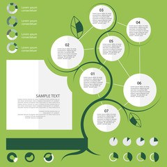 Flat ecology infographic elements
