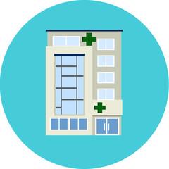 Vector Hospital- Flat Icon
