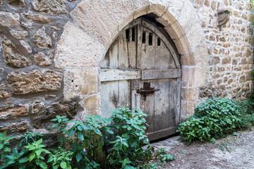 Vieille porte délabré