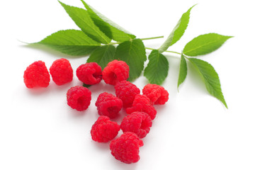 Sweet raspberry isolated on white background