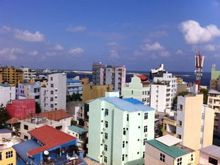 Male, Maldives. View from roof