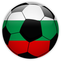 Bulgaria Flag with Soccer Ball Background