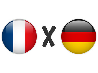 Germany versus France Flag Soccer Game