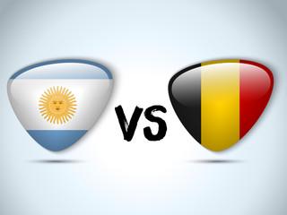 Argentina versus Belgium Flag Soccer Game