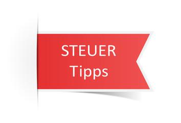 Schild Steuer Tipp