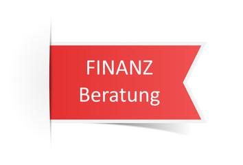 Schild rot Finanzberatung