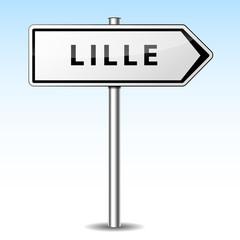 Panneau direction Lille