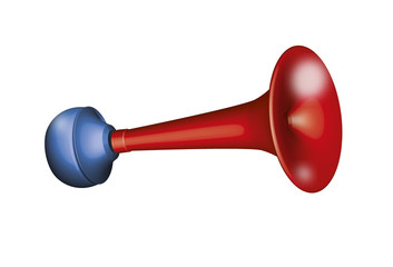 Klaxon avertisseur rouge illustration 3D
