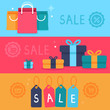Vector sale concept in flat style