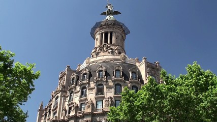 Types of Barcelona. Tower of the Unión y el Fénix building