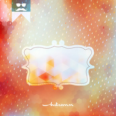 Autumn background with frame. EPS 10