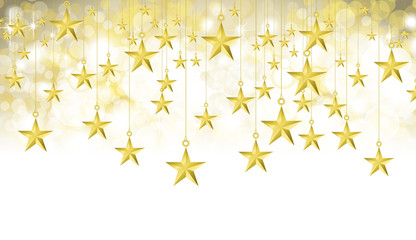 Starry Gold Background