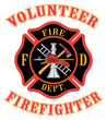 Volunteer Firefighter With Maltese Cross