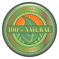 Natural Organic Button