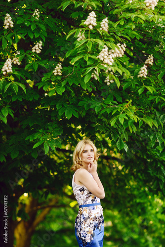 teen girl under the chestnut