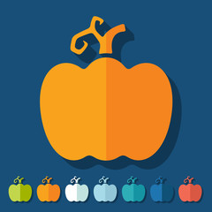 Flat design: pumpkin
