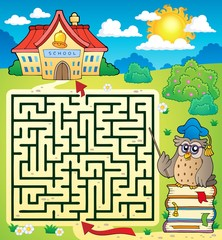 Maze 3 with owl teacher