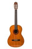 Fototapety chitarra classica in fondo bianco
