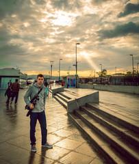 Photographer at Eminonu harbor