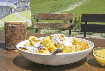 Traditional Kaiserschmarrn mountain inn