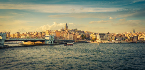 Beyoglu and Galata tower panorama, Istanbul