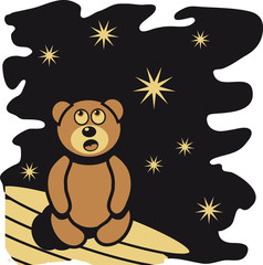 Teddybär Sternenhimmel träumen