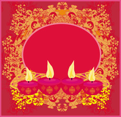 abstract diwali celebration background, vector illustration